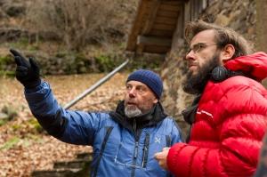 Andrea Segre e Luca Bigazzi sul set de La Prima Neve (foto di Simone Falso)